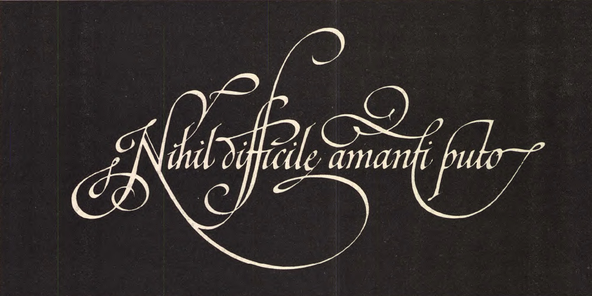 Calligraphy drawn for U&lc magazine