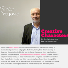Creative Characters Interview with Jovica Veljovic