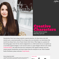 Creative Characters Interview with Cindy Kinash