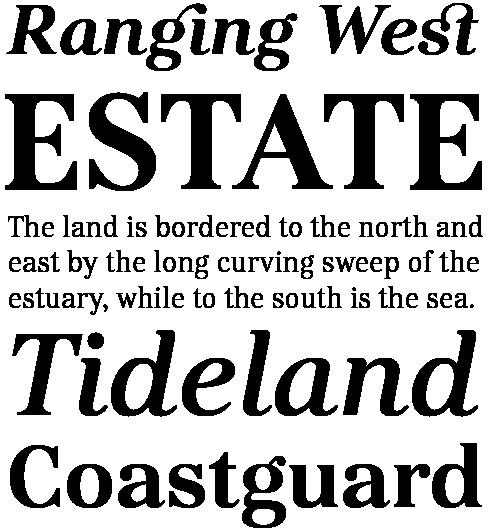 Kostic Serif Font Sample