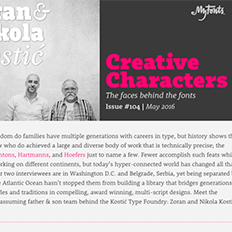 Creative Characters Interview with Kostić Type Foundry