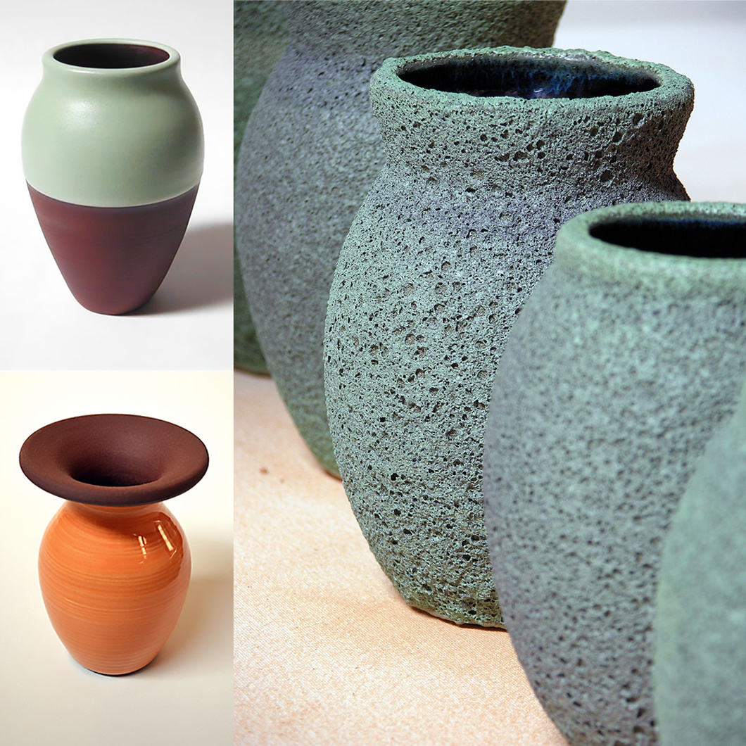 A selection of Licko's ceramic work