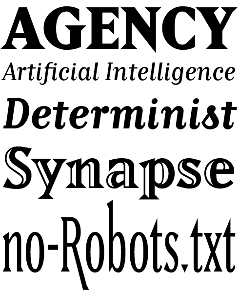 Matrix II Font Sample