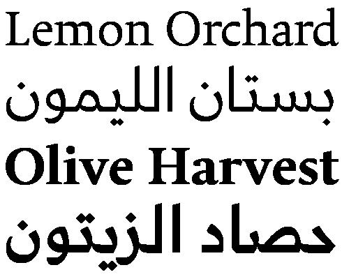 Koufiya™ Font Sample