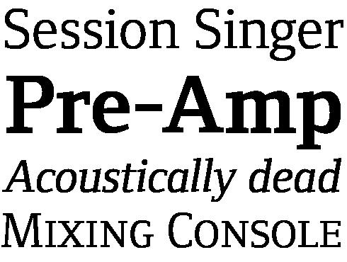Foundry Form Serif Font Sample