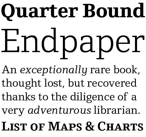 Foundry Origin Font Sample