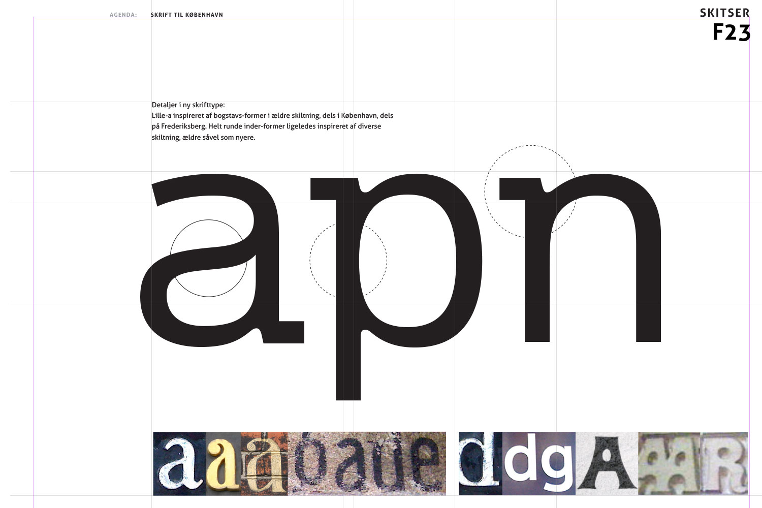 Research showing some of the visual background to the development of the København typeface
