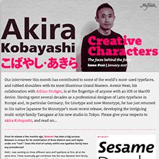 Creative Characters interview with Akira Kobayashi