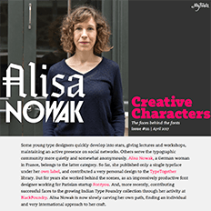 Creative Characters interview with Alisa Now