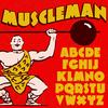 Muscleman font flag