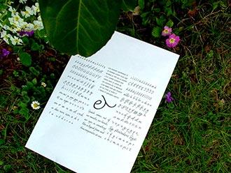 Dolce font sample  the garden