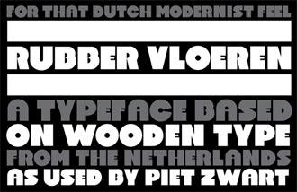 Rubber Vloeren font sample