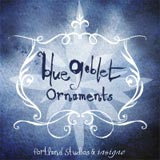 Blue Goblet Ornaments font sample
