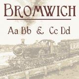Bromwich font sample