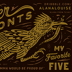 Alana Louise – My favorite Five Typefaces