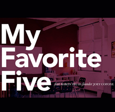 Joey Cofone's Favorite Five Typefaces
