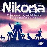 Nikona font flag