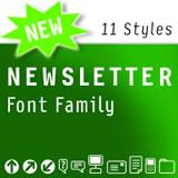 Newletter font flag
