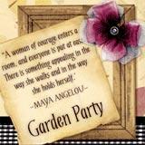 Garden Party font flag