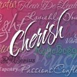 Cherish font flag