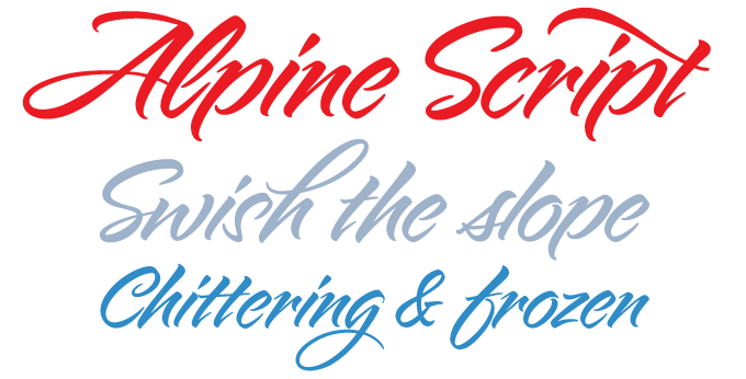 Alpine Script font sample