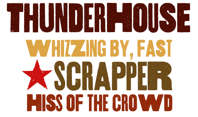 Thunderhouse font sample