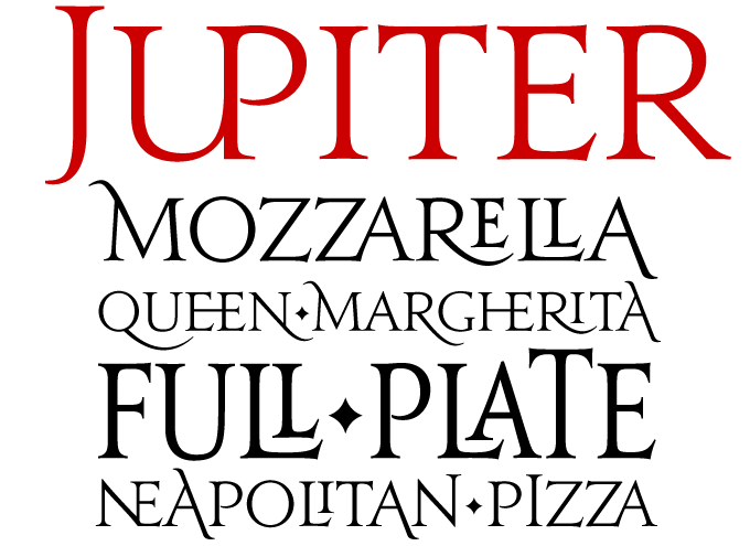 Jupiter font sample