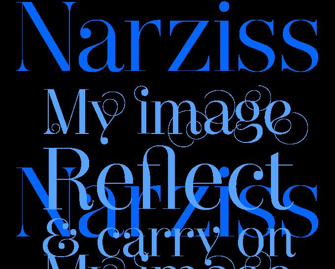 Narziss font sample