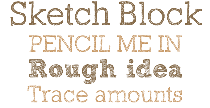 Sketch Block font sample