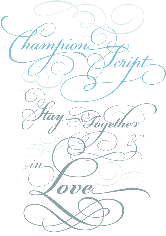 Champion Script Pro font sample
