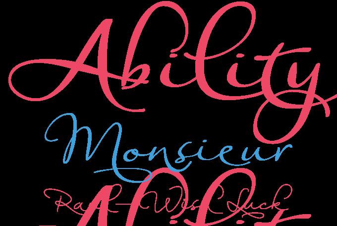 Ability font sample