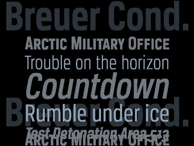 Breuer Condensed Bold Free Font