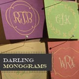 Darling Moniograms font flag