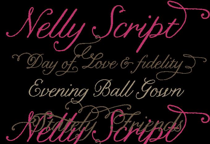 Nelly Script font sample