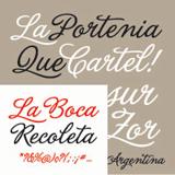 La Portenia font flag