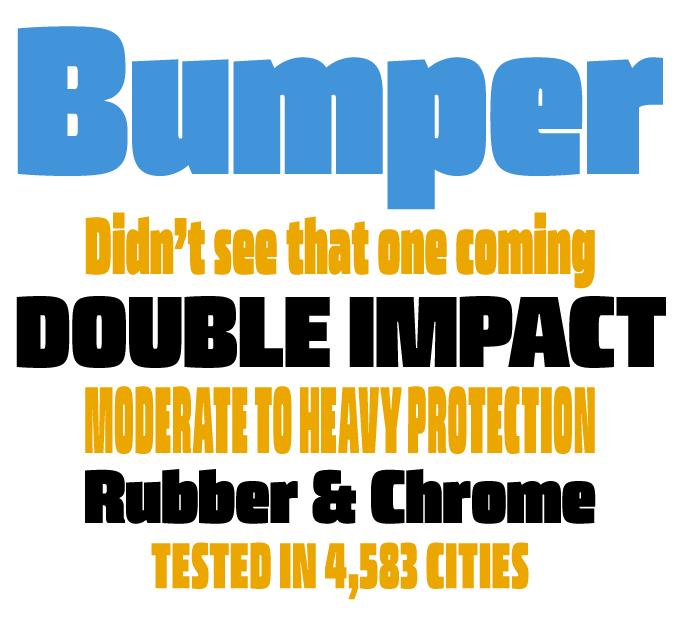 Bumper font sample