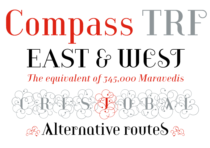 Compass TRF font sample