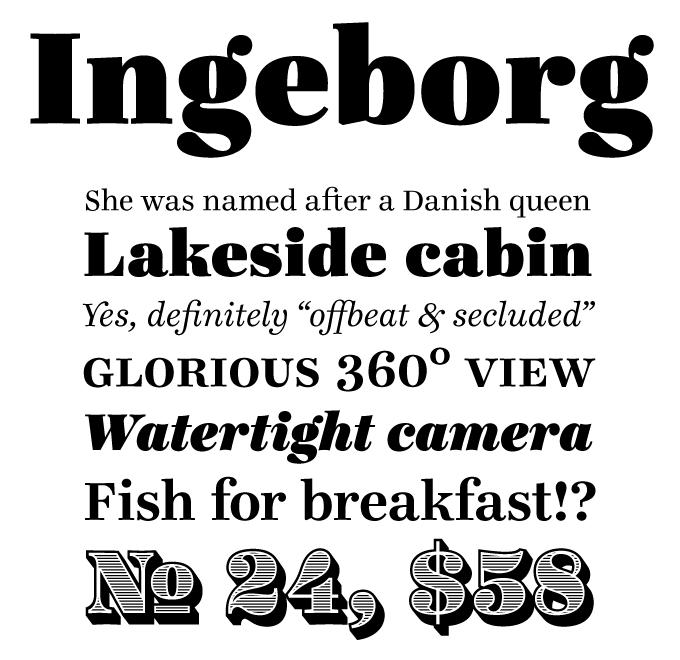 Ingeborg font sample