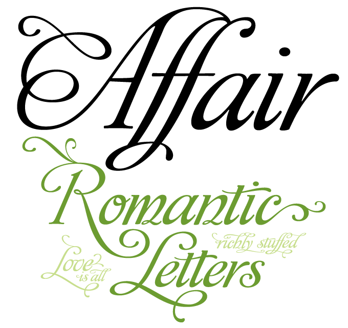 Affair font sample