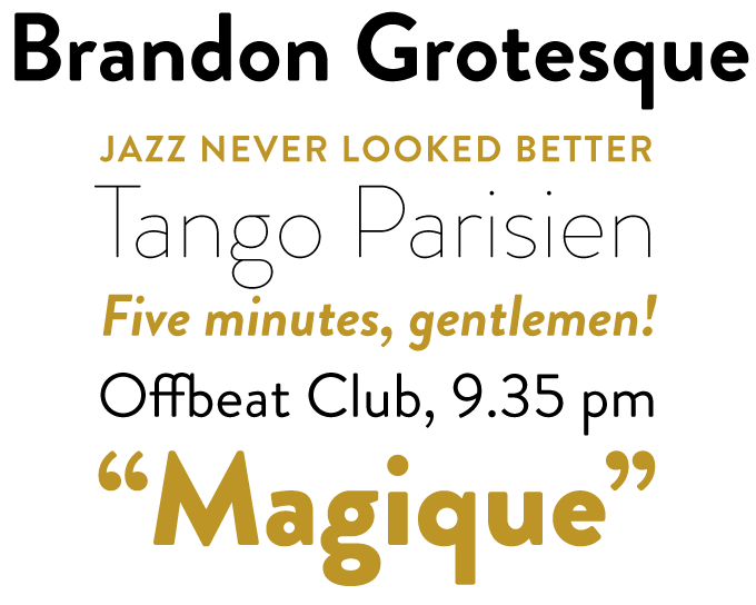 Brandon Grotesque font sample