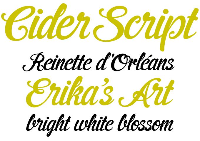 CiderScript font sample