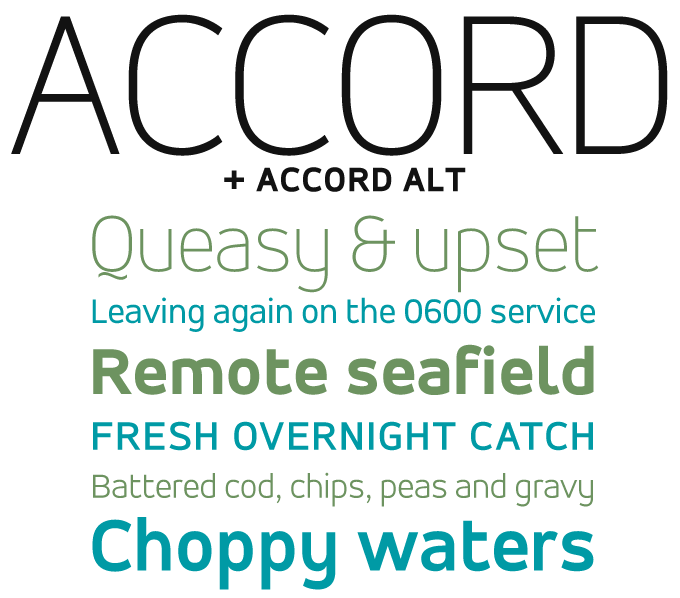 Accord font sample