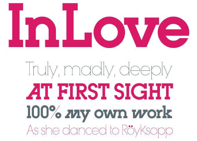 InLove font sample