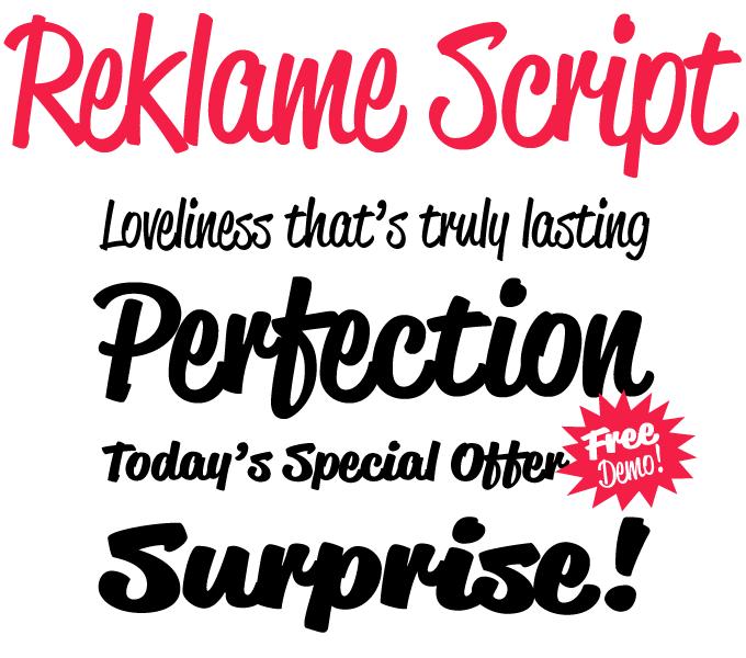 Sponsored font reklame script