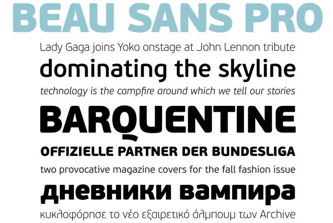 Beau Sans font sample