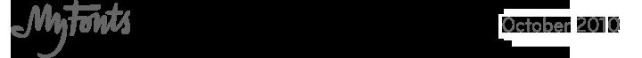 MyFonts, October 2010