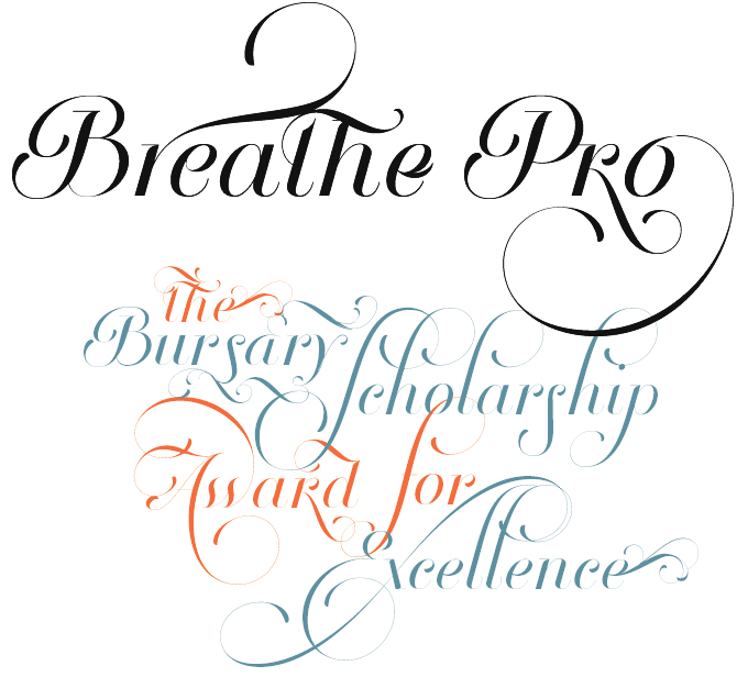 Breathe font sample
