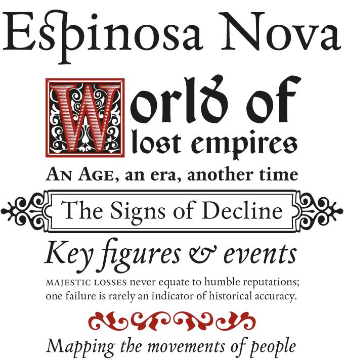 Espinosa font sample