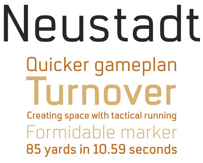 Neustadt font sample