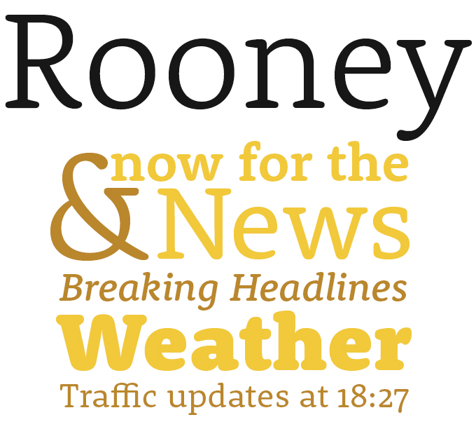Rooney font sample